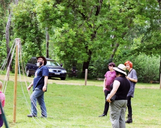 The PCV Children's Maypole at the 2014 Mount Franklin Pagan Gathering.