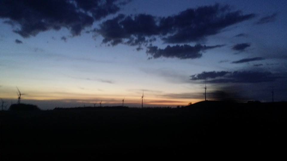 The sun sets on the windfarm at Mount Mercer, Western Victoria after a long, scorching day. Photo courtesy of Josie H.