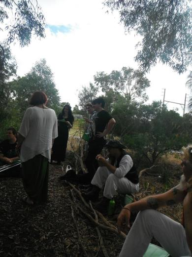 At the PCV's 2017 Lughnassadh Ritual, which was hosted by Silver Birch Grove ADF. Photo by Ang