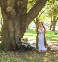 Seline gives a presentation at our first Pagan Pride Day, in 2017. Photo: Mark Hayes Photography