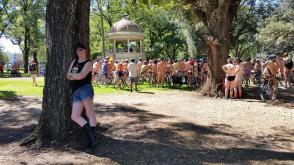 Our Morris workshop was crashed by the Australian Naked Bikeride in March 2017! Photo by Sarah Morgan
