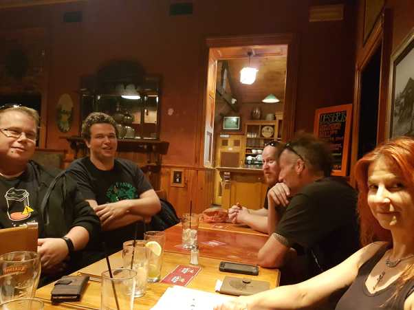 At the April 2017 Central Victorian Pagans and Heathens in the Cafe. Photo by Josie.