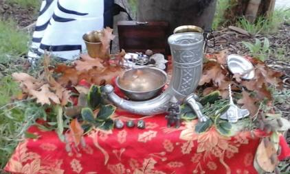 Yule 2016 altar. Photo by Dean.