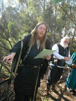 At the 2017 PCV Yule Ritual, hosted by Silver Birch Grove ADF. Photo by Ang.