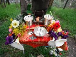 At the PCV Ostara ritual, 2017. Photo by Ang.