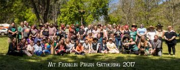At the 2017 Mount Franklin Pagan Gathering. Photo by Kylie Moroney Photography.