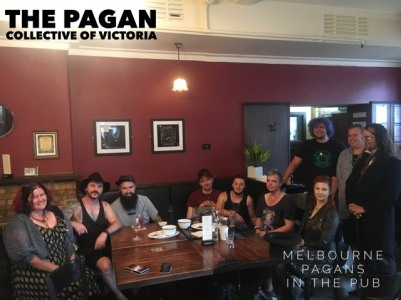 The Jan 2018 Melbourne Pagans in the Pub. Photo by Ryan.