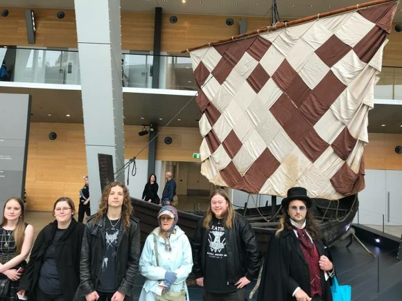 At the 2018 Yule museum outing with the Melbourne Heathen Moot. Photo by Dean.
